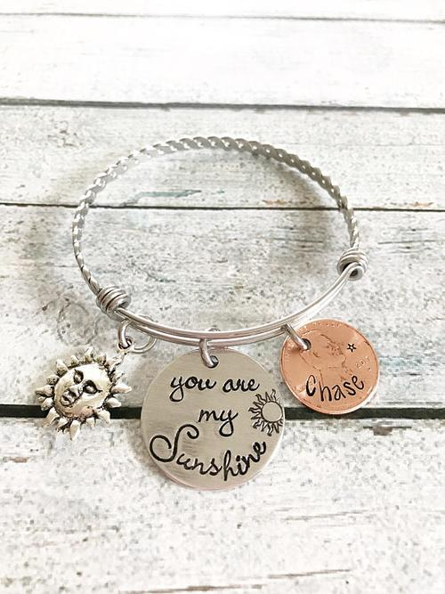 You are my Sunshine - Penny jewelry - Mother's