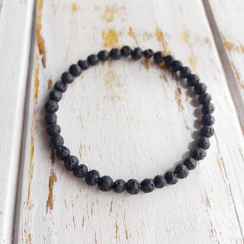 4mm Lava Beads Bracelet ~ Connection to Mother