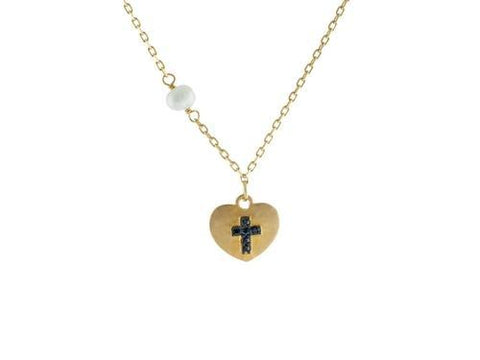 14k Gold Plated Silver Satin Heart w/ engraved