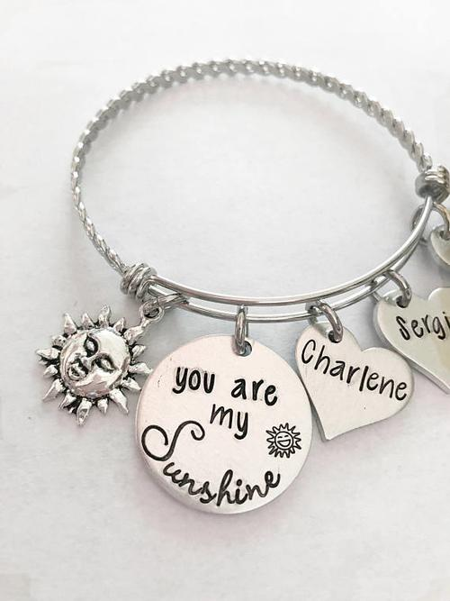 You are my Sunshine - Mother's bracelet - Hand
