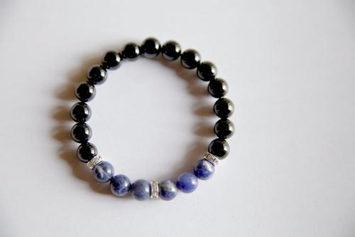 The Throat Chakra - Genuine Black Onyx & Sodalite
