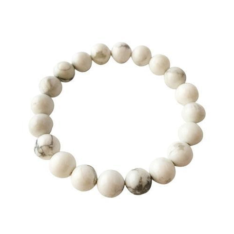 8mm White Howlite Bracelet ~ Calm & Relief