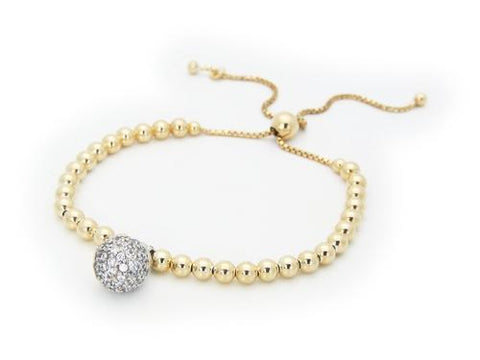 Adjustable Disco Ball Bracelet (Cubic Zirconia)
