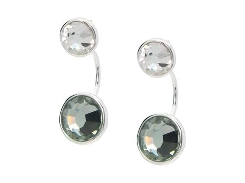 Top & Bottom Austrian Crystal Earrings in 925