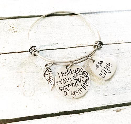 Memorial bracelet - Remembrance jewelry - Angel