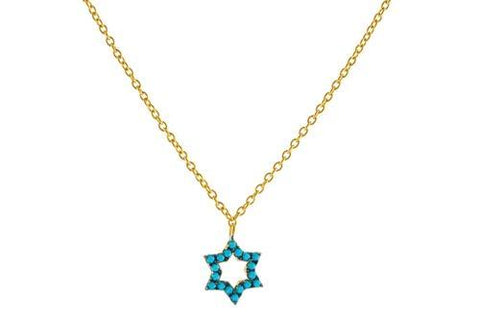 14k Gold Plated Sterling Silver nano Turquoise CZ