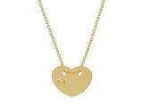 Revolving Golden Heart Necklace