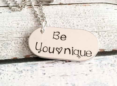 Younique - Be Younique necklace - Hand stamped