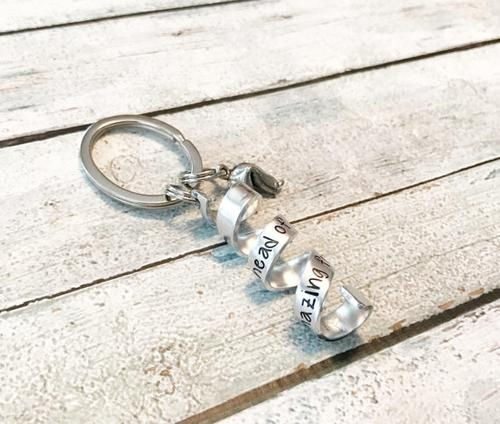 Secret message keychain - Fortune cookie keychain