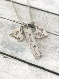 Yia Yia jewelry- Hand stamped necklace -