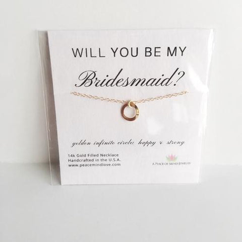 Will you Be My Bridesmaid? 14k Gold Filled
