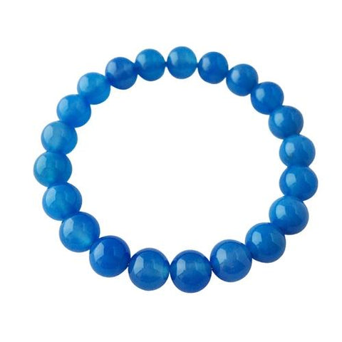 6mm Blue Agate Bracelet