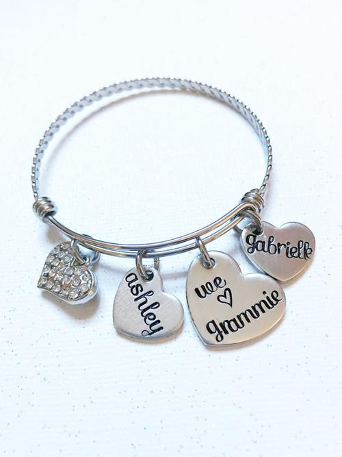 Mother's jewelry - Hand stamped bracelet -