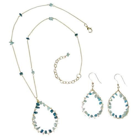Alpana Beaded Necklace & Earrings
