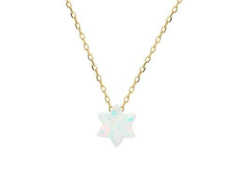 Silver Gold  Plated Silver Mini Opal Stone Star of