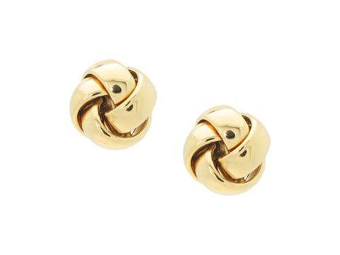 Golden Chunky Love Knot Post Earrings
