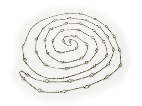Midnight CZ by the Yard Necklace, 60""