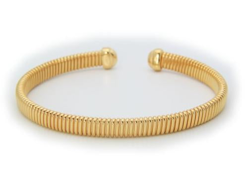 Tubo Gas Cuff Bracelet in 18k Gold Plated Sterling
