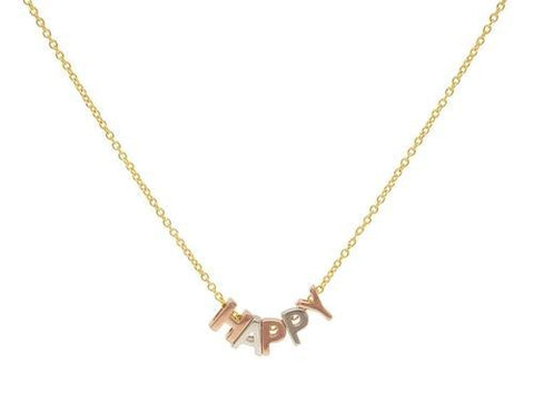 Happy Letters Necklace