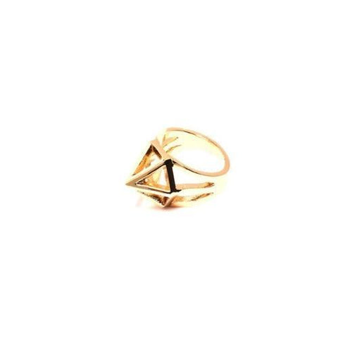 18k Gold Plated Brass Caged Ring