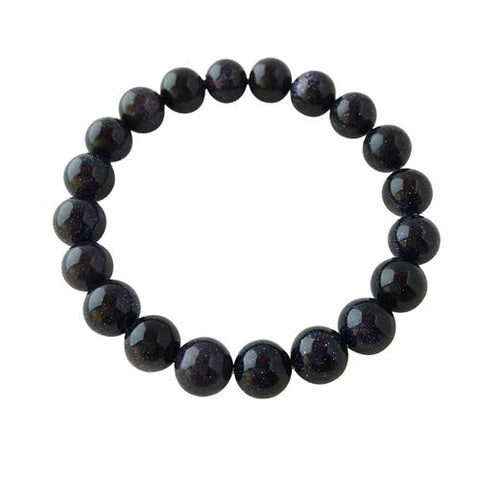 8mm Blue Goldstone Bracelet ~ Recognition