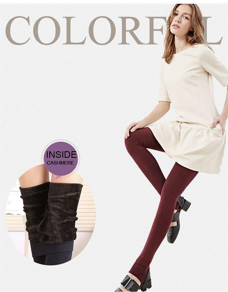 Winter Plus Cashmere Leggings Warm Super Elastic