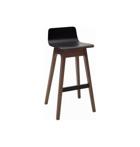 Ava Low Back Bar Stool - Walnut & Black | GFURN