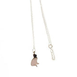 Kitty Kat Sterling Silver Necklace, Dainty