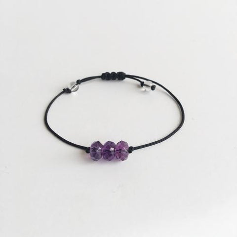 Amethyst ~ Choose a String Color ~ Faceted