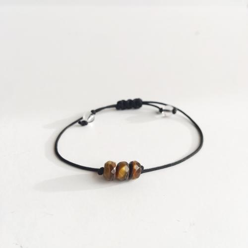 Tiger Eye ~ Choose a String Color ~ Faceted Tiger