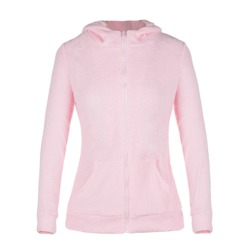 Women Long Sleeve Hoodies Jackets Spring Cute Zipper Hooded Coat Casual Girls Hoody Sweatshirts