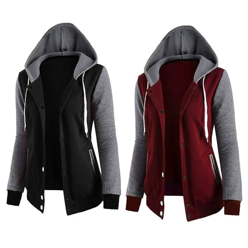 Spring Hoodie Women Sweatshirt Long Sleeve Pocket Loose Shirt Top Tracskuit