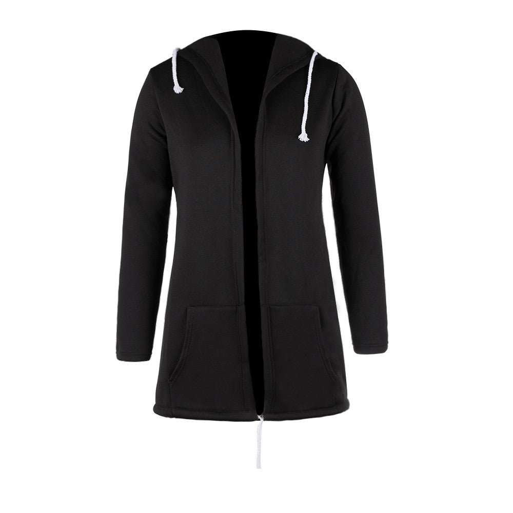 Spring Women Plus Size Zipper Irregular Tops Outerwear Hooded Jacket Hoodies Sweatshirts