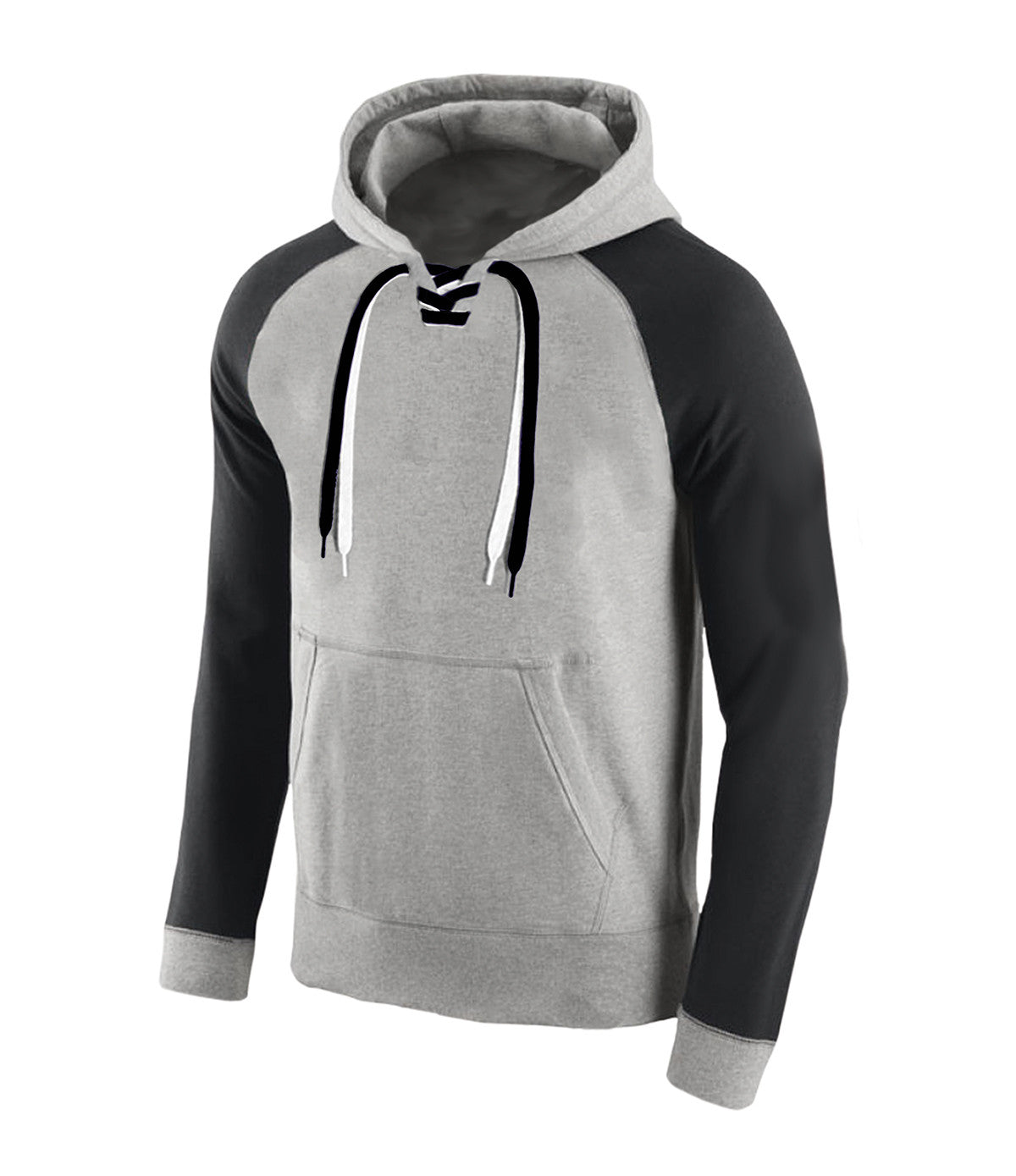 Lace Up Hooded Sweatshirt