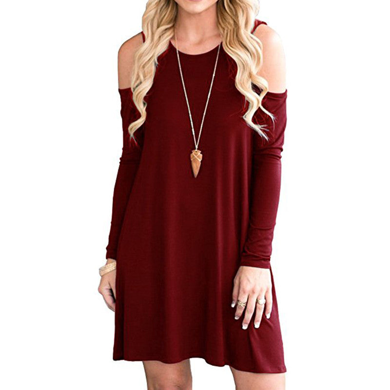 Long Sleeve Scoop Neck Pullover Dressy Blouses  Swing Hem Dressy Tunic Tops Loose Swing Dress Shirts for Women