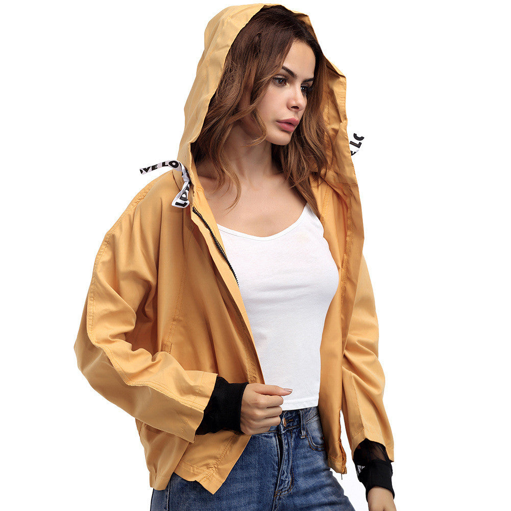 Loose Basic Jacket Cardigan Womens Spring Zipper Long Sleeve Hoodies Bomber Coat Girls Plus Size Windbreaker
