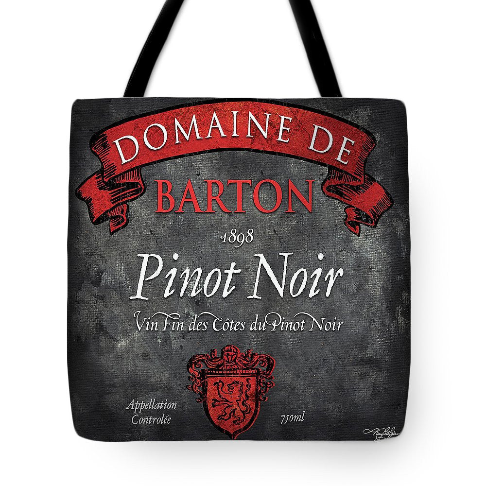 Still Life Wine Label Square Viii Tote Bag