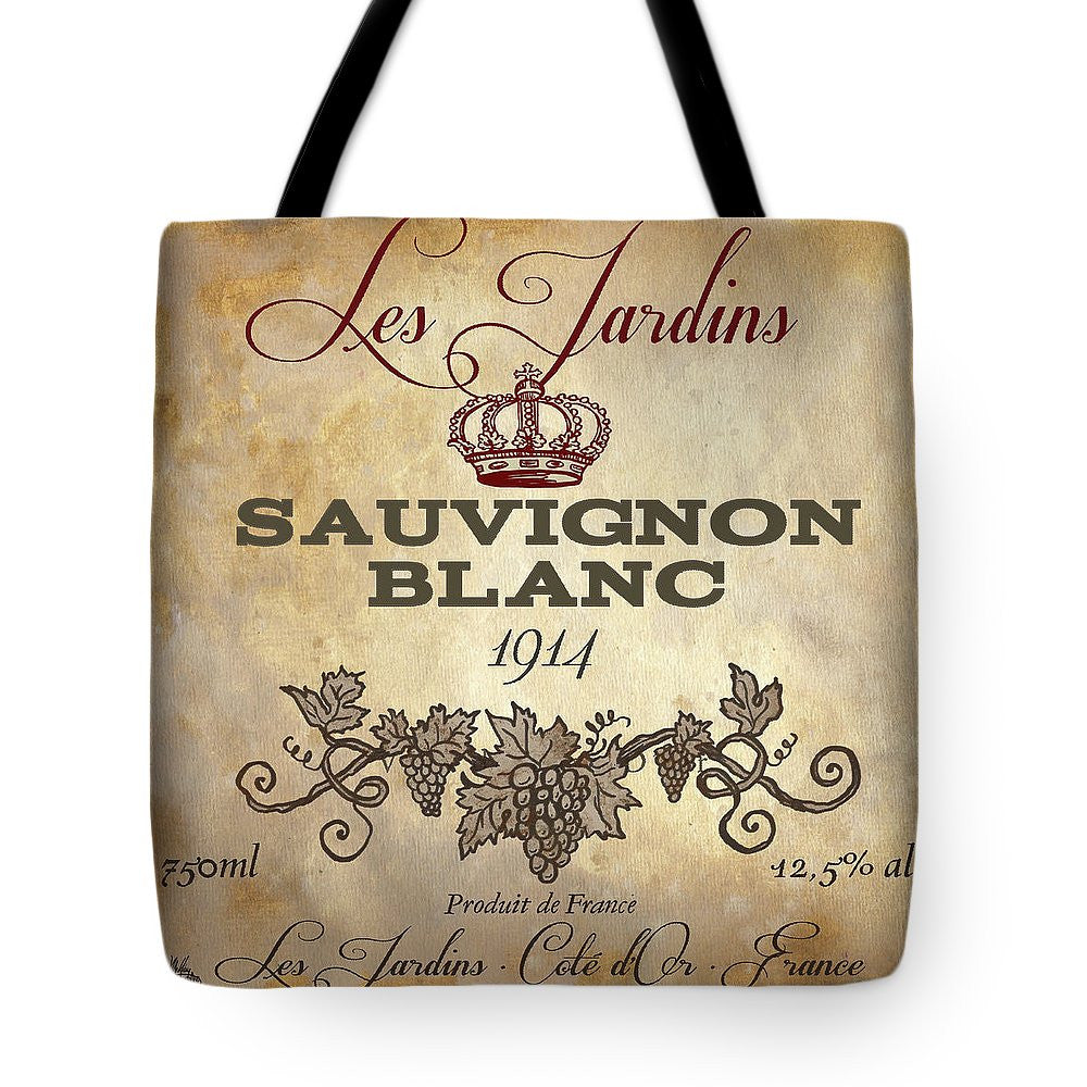 Wine Label Vi Tote Bag