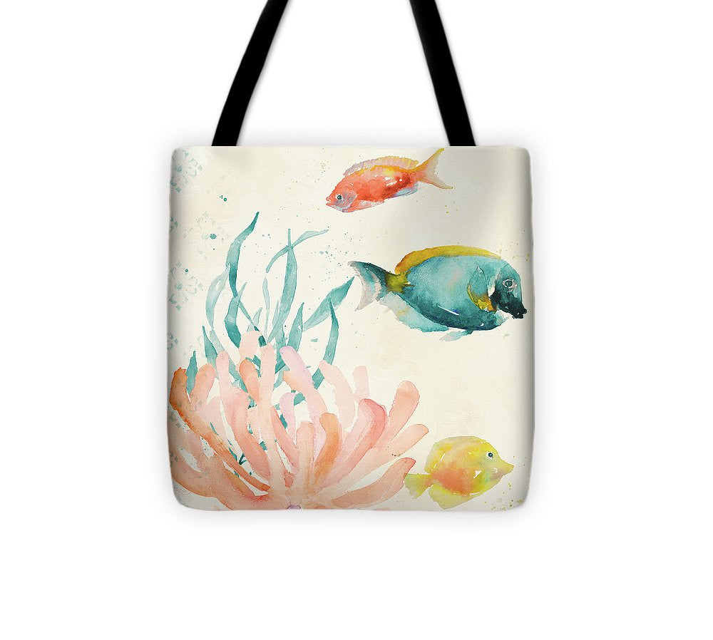 Tropical Teal Coral Medley II Tote Bag