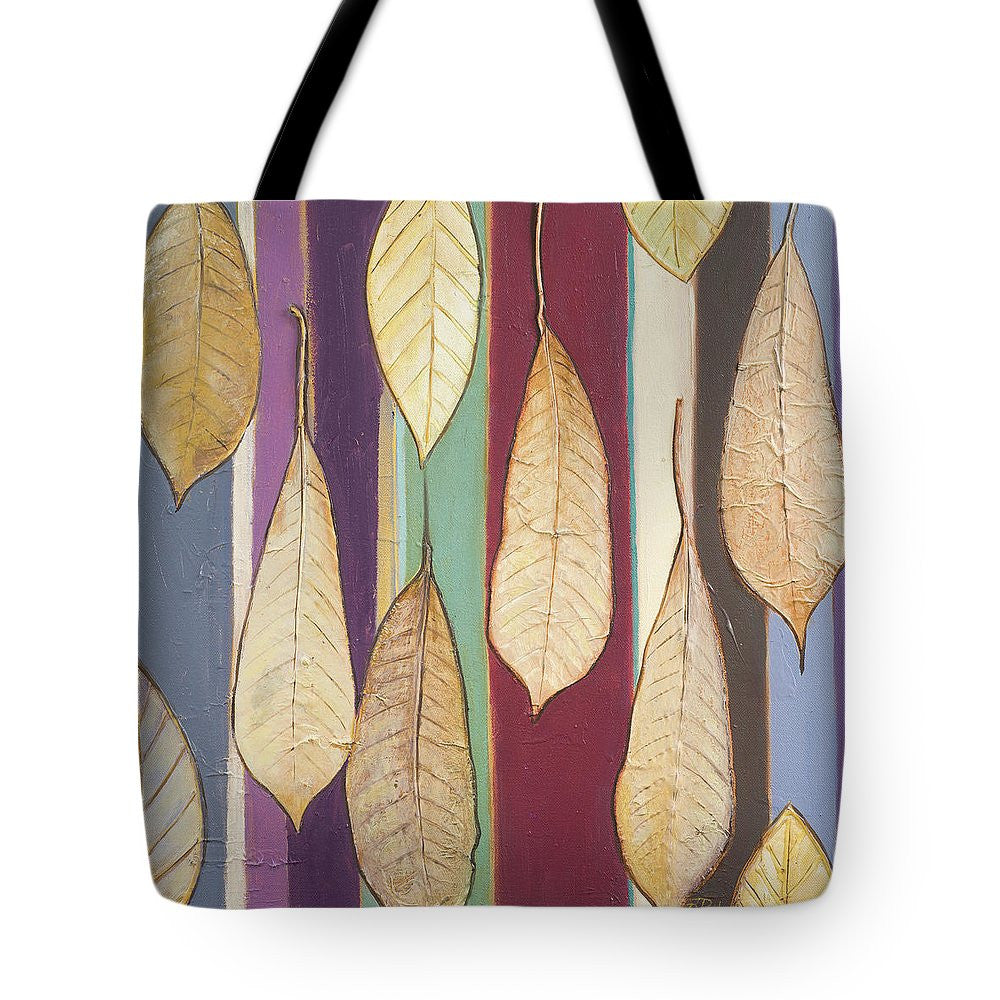 Leaves And Stripes I Tote Bag