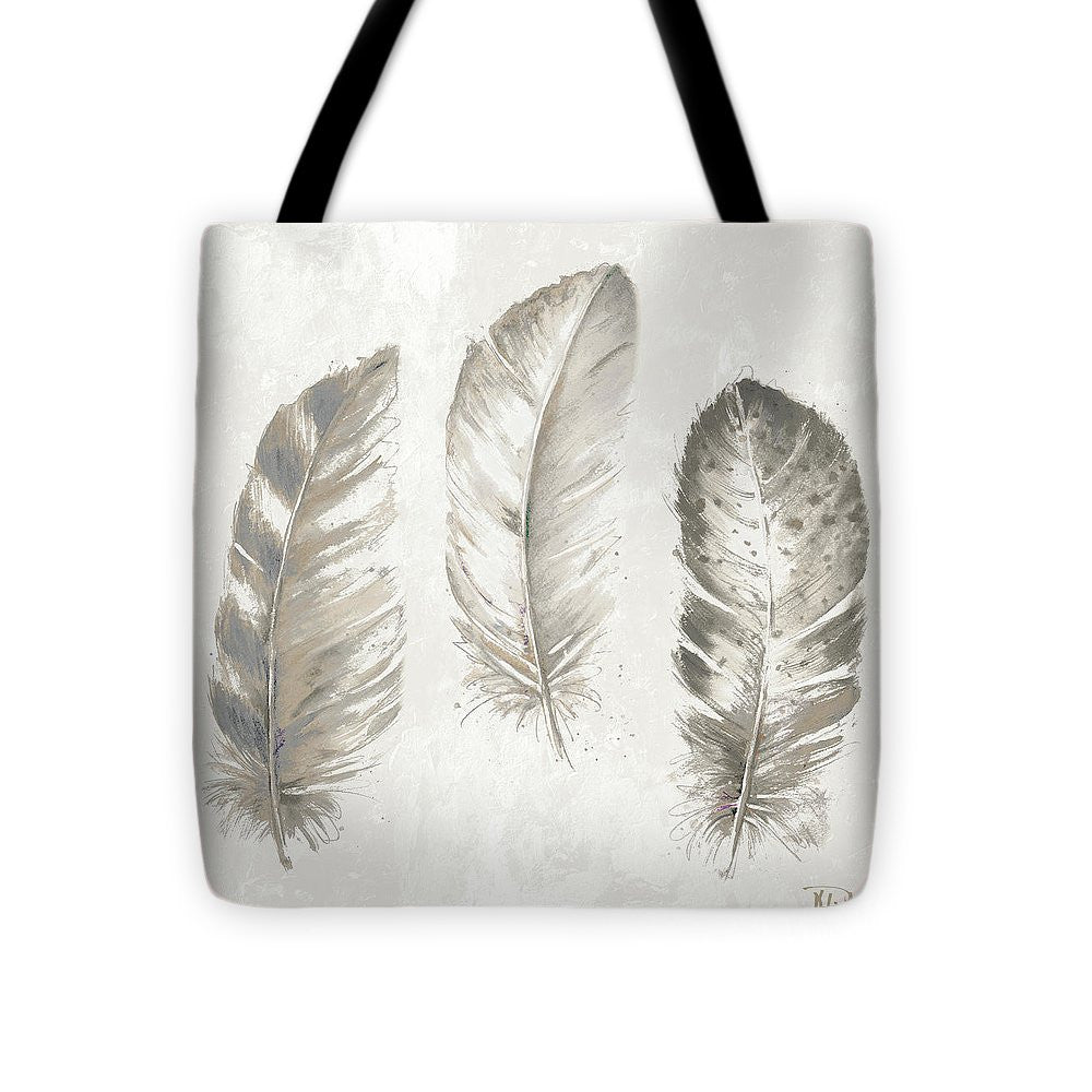 Three Modern Feathers I Tote Bag