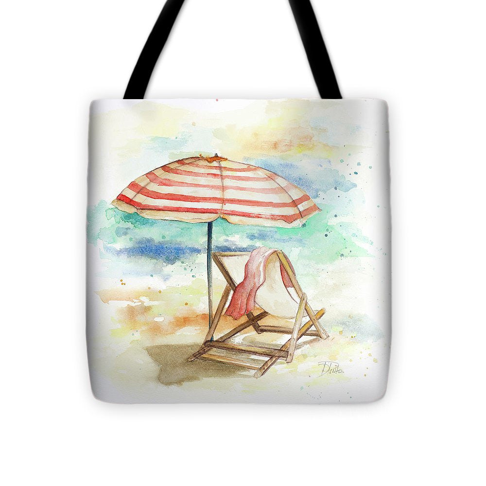 Umbrella On The Beach II Tote Bag