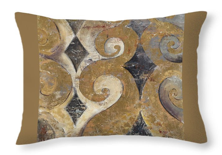 The Golden Ornaments Throw Pillow