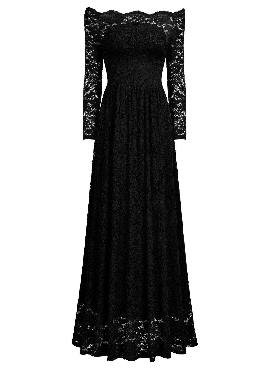 Off Shoulder Formal Party Maxi Dress