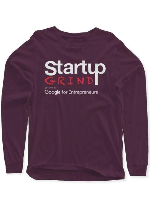 Startup Grind Purple Long Sleeves Round Neck