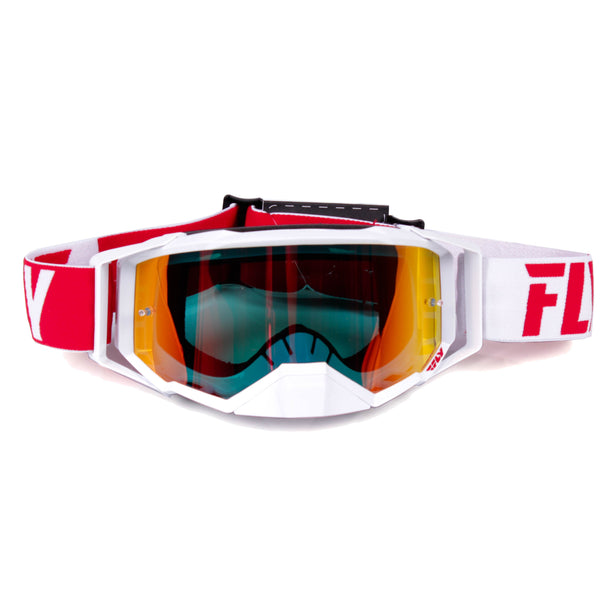 FLY GOGGLE '19 ZONE PRO RED/WHT RED MIR/SMK LENS