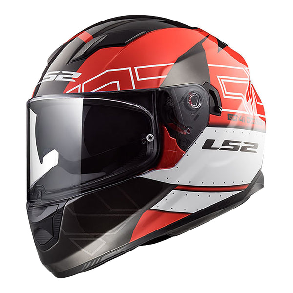LS2 FF320 STREAM HELMET - KUB BLACK / RED