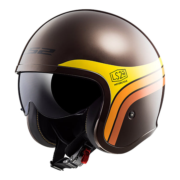LS2 OF599 SPITFIRE HELMET - SUNRISE BROWN / ORANGE