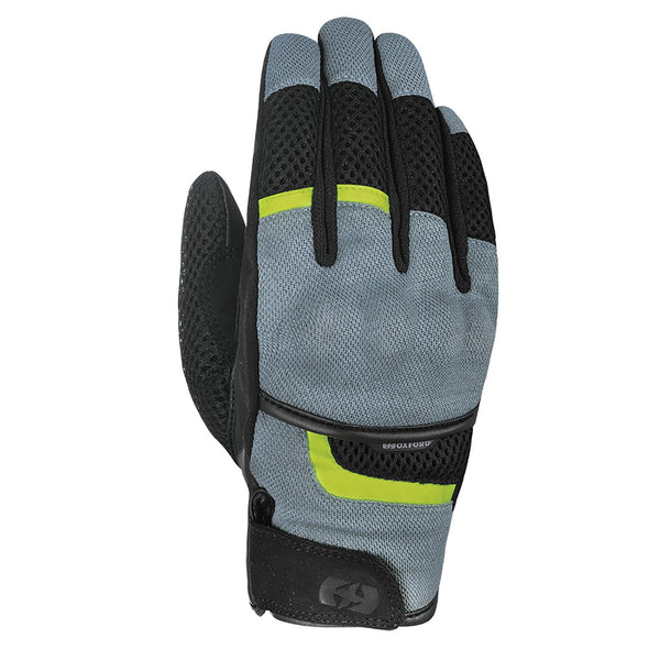 OXFORD BRISBANE AIR GLOVES - CHARCOAL / FLURO