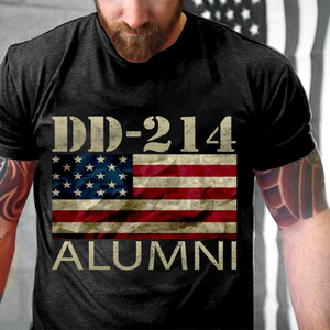 DD-214 Alumni American Flag, Gift For Veteran T-Shirt - ATMTEE